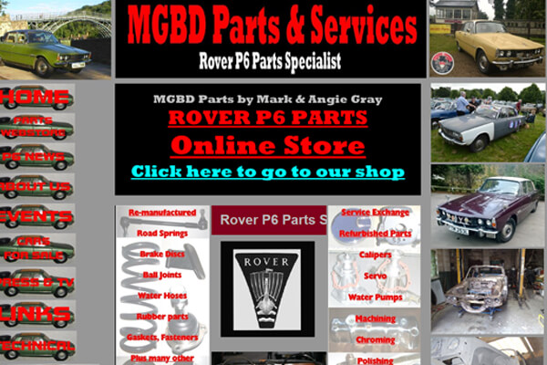 Rover Parts Web Designer