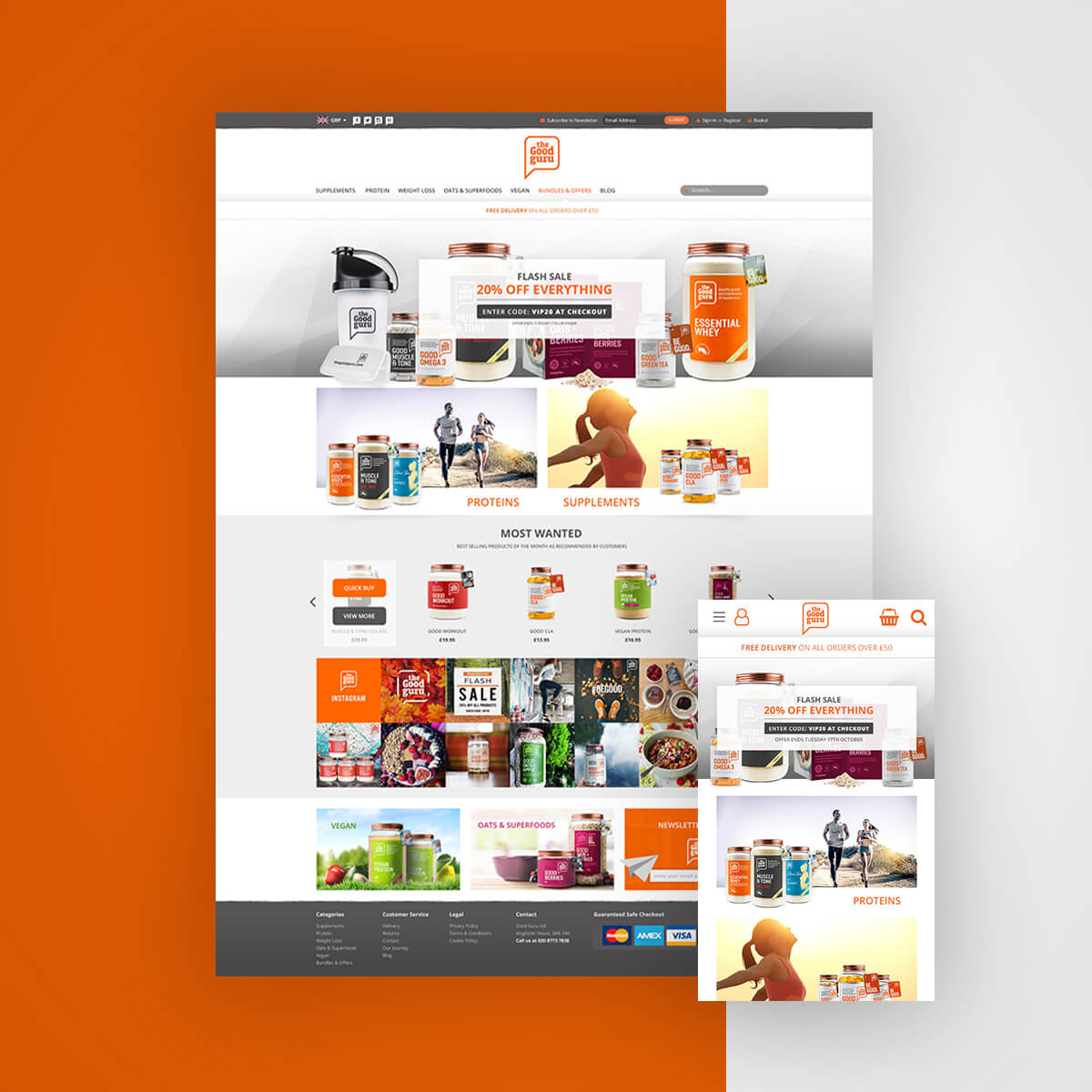 The Good Guru homepage redesign and BigCommerce migration