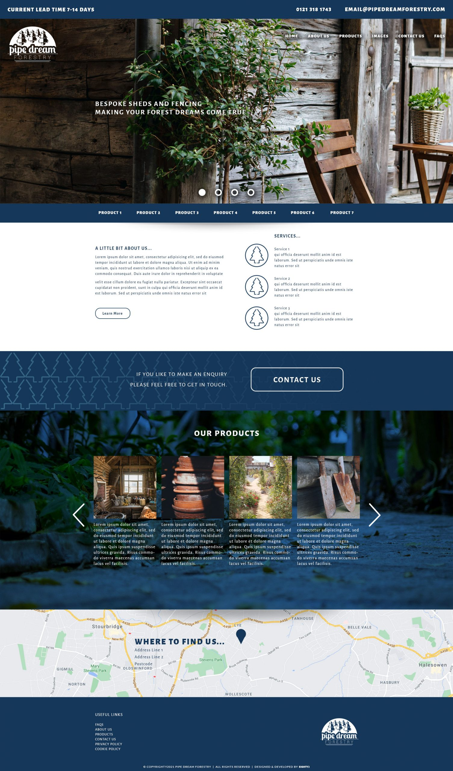 Pipe Dreams Forestry - eCommerce Store built in Woocommerce