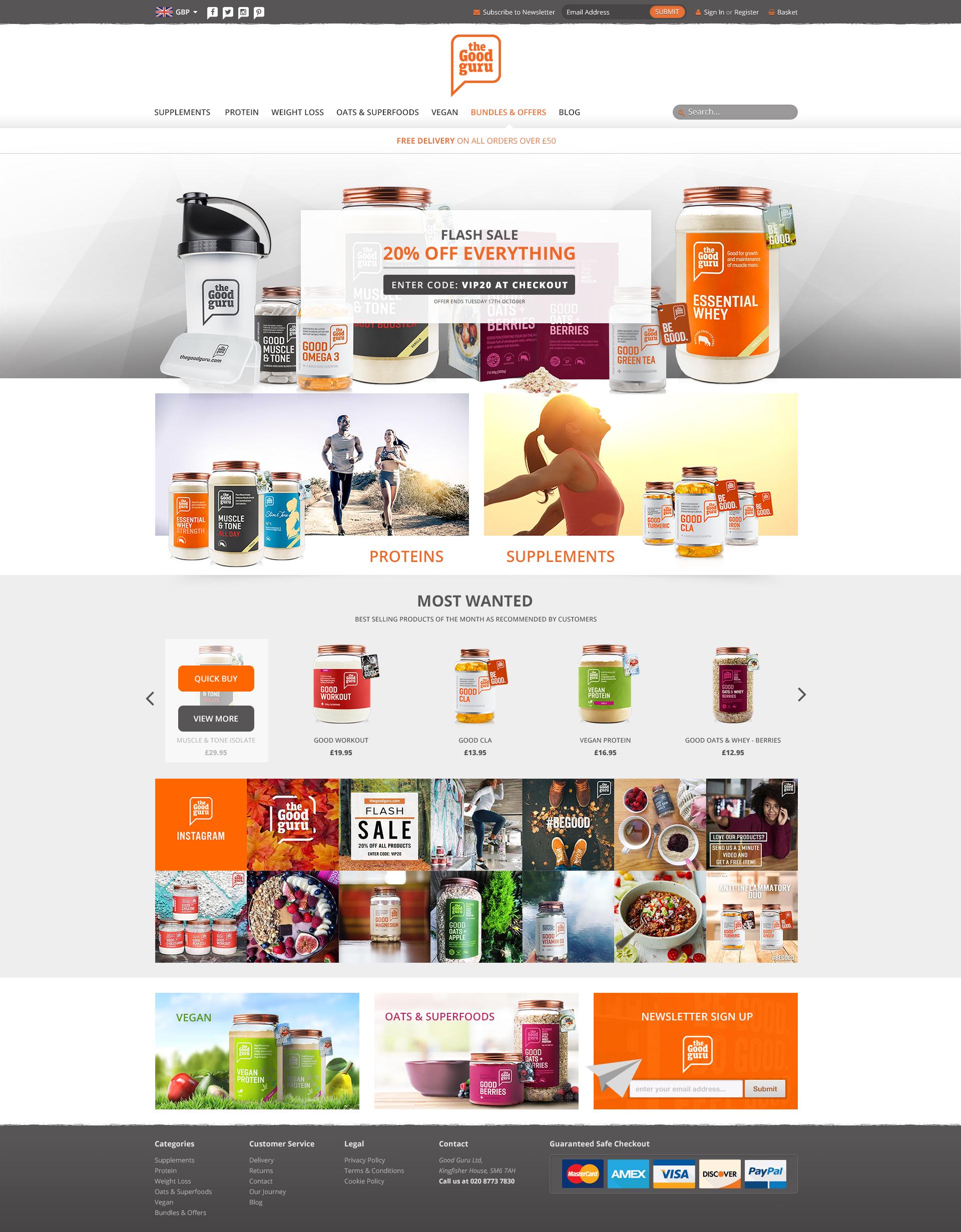 The Good Guru - BigCommerce Store with custom design